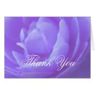 Thank you card, purple rose flower cards