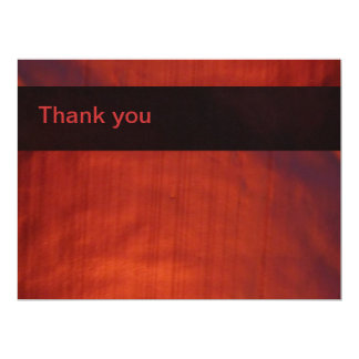 Thank you card - Red LED Wash Lighting