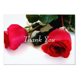 Thank you card red roses Wedding Set