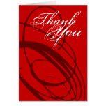 Thank You Card Red Twirl