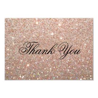 Thank You Card - Rose Gold Glit Fab