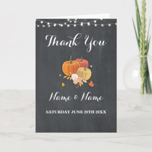 thank you card rustic pumpkin wedding engagement - Engagement Thank You Cards