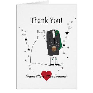 Thank You Card - Scottish Bride & Groom