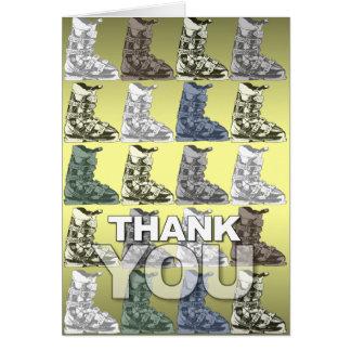 Thank You Card Ski Boot Pattern