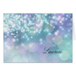 Thank You Card Sparkle Lights Blue and Purple