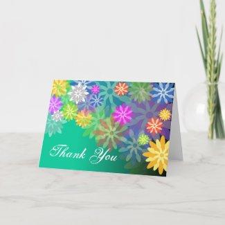 Thank You Card Spring Garden card