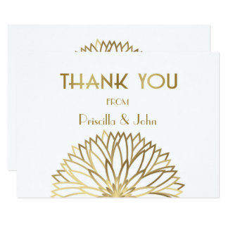 Thank You Card,Stylized Monet's Dahlia,GreatGatsby Card