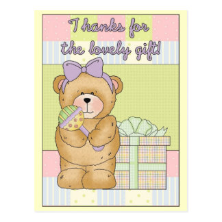 Thank You Card Teddy Bear with Gift