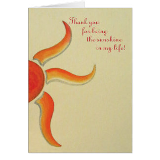 Thank you card - Thank you for being the sunshine