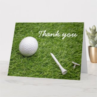Thank you card to golfer