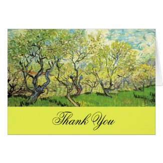 Thank you card, Vincent van Gogh,Orchard in Blosso