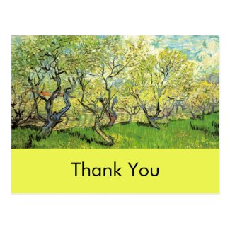 Thank you card, Vincent van Gogh,Orchard in Blosso Post Cards