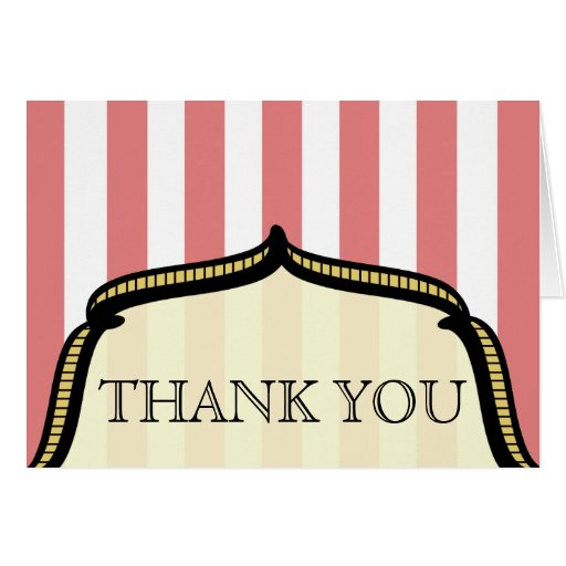 Thank You Card - Vintage Circus