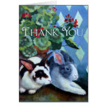 Thank You Card w/ Rabbits