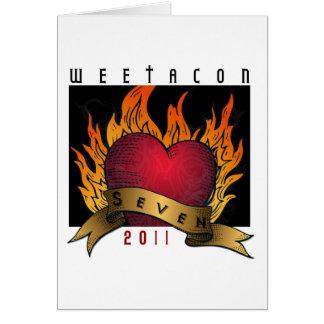 Thank you card Weetacon 2011
