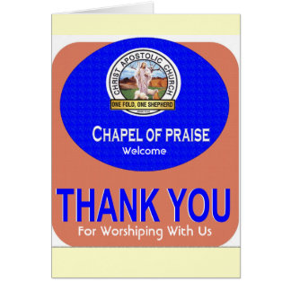 THANK YOU CARD, Welcome , For Worshiping With Us Card