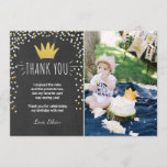 """Thank you card Wild things Birthday Gold Boy Crown<br><div class=""""desc"""">♥ A perfect way to thank your guests for coming to your little one&#39;s birthday party! Wild things theme with gold black and a crown.</div>"""