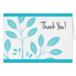 Thank You! Card with Aqua Foliage