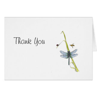 Thank You Card with blue dragonfly