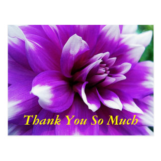 Thank You Card with Dahlia Background
