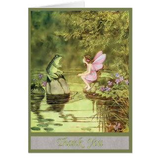 Thank You Card with Fairy and Frog