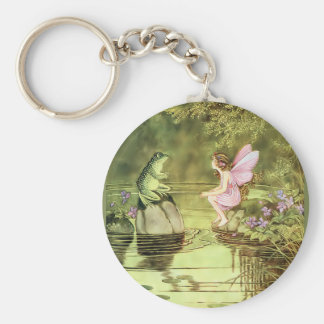 Thank You Card with Fairy and Frog Keychain