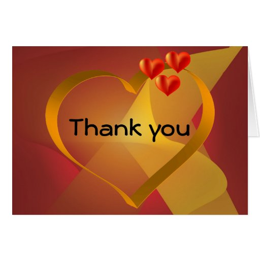Thank you Card with heart and blends