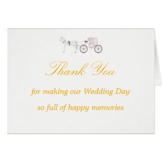 Thank You Card with Horse & Carriage Graphic
