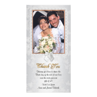 Thank you card with photo