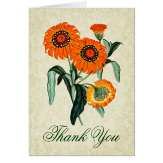 Thank You Card with Vintage Daisies