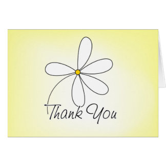 Thank You Card - Yellow
