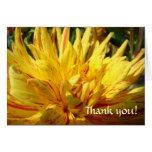 THANK YOU CARD Yellow Dahlia Flower Greeting Card