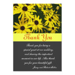 Thank you card, yellow daisy flowers card