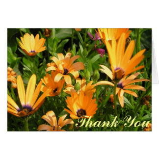 Thank You Card - Yellow Flowers