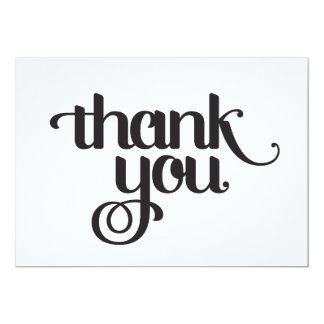 Thank You Cards: Black on White Card