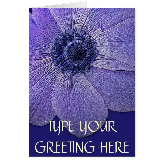 Thank You Cards Blue Flowers Custom Greeting Card