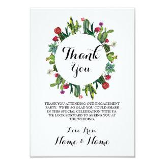 Thank You Cards Cactus Wreath Fiesta Wedding