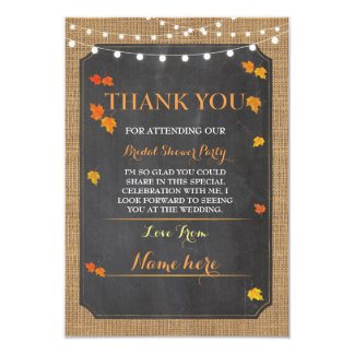 Thank You Cards Fall In Love Bridal Shower Party