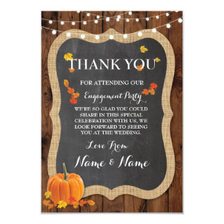 Thank You Cards Fall Pumpkin Wood Rustic Winter