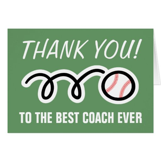 Thank you cards for baseball coach | Customizable | Zazzle