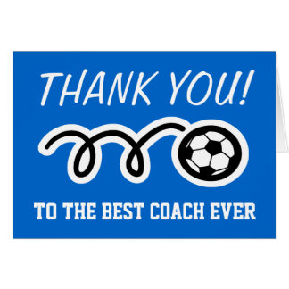 Thank you cards for soccer coach | Customizable