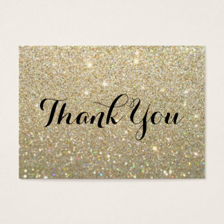 Thank You Cards   Gold Glitter Fab  Business Thank You Card Template