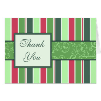 Thank You Cards Holiday Stripes