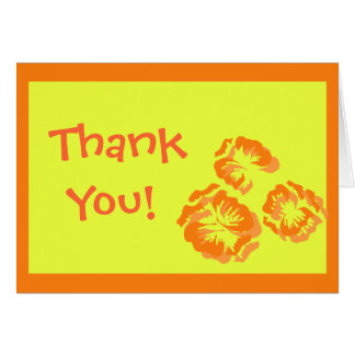 THANK YOU Cards in Fun Tropical Colors