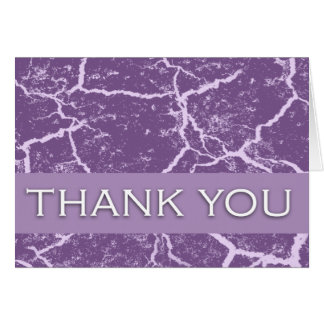 "Thank You Cards in Purple ""Marble Finish"""