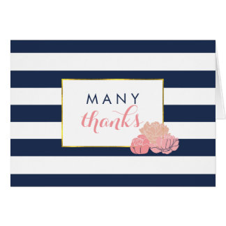 Thank You Cards | Midnight Blush Peony
