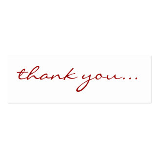 Thank You Cards Mini Business Card