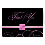 Thank You Cards - Pink and Black