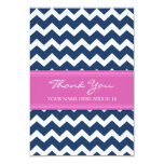 Thank You Cards Pink Blue Chevron