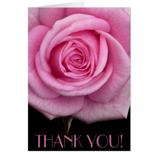 Thank You Cards Pink Flowers Custom Greeting Card